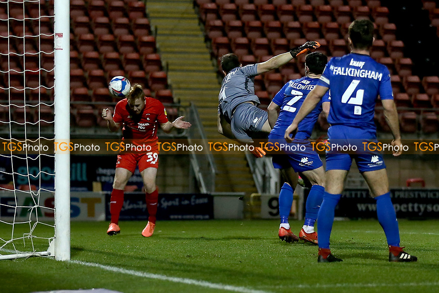 Danny Johnson of Leyton Orient scores the third goal for his team during Leyton Orient vs Harrogate Town, Sky Bet EFL League 2 Football at The Breyer Group Stadium on 21st November 2020