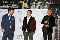 LOS ANGELES - SEP 26:  Cameron Penn, Kelson Penn, and Martin Kove at the Catalina Film Festival Drive Thru Red Carpet, Saturday at the Scottish Rite Event Center on September 26, 2020 in Long Beach, CA