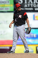Richmond Flying Squirrels pitcher Daryl Maday (34) during game against the Trenton Thunder at ARM & HAMMER Park on June 9 2013 in Trenton, NJ.  Trenton defeated Richmond 3-2.  Tomasso DeRosa/Four Seam Images
