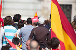 """Ambient at the exterior of the Royal Palace at the """"Plaza De Oriente"""" In Madrid, waiting for King Felipe VI after being crowned king of Spain. Jun 19, 2014. (ALTERPHOTOS/Carlos Dafonte)"""