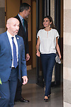 King Felipe VI of Spain and Queen Letizia of Spain visit to the telephone service 016 facility for victims of ill-treatment for gender-based violenceat Zarzuela Palace in Madrid, July 27, 2017. Spain.<br /> (ALTERPHOTOS/BorjaB.Hojas)