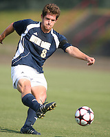 04 September 2009: Michael Thomas #8 of the University of Notre Dame  University takes a shot during an Adidas Soccer Classic match against Wake Forest at the University of Indiana in Bloomington, In. The game ended in a 1-1 tie..