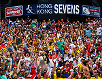 Action on Day 3 of the Cathay Pacific / HSBC Hong Kong Sevens 2013 on 24 March 2013 at Hong Kong Stadium, Hong Kong. Photo by Manuel Queimadelos / The Power of Sport Images