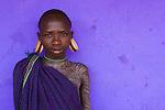 Surma boy, Ethiopia
