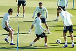 Spain's Sergio Reguilon, Dani Ceballos, Jesus Navas and Diego Llorente during training session. October 6,2020.(ALTERPHOTOS/Acero)