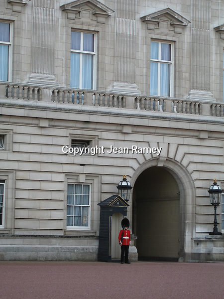 Guard at Buckingham Palace, London
