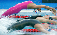 France's Alexianne Castel starts in a women's 100 meters backstroke semifinal at the Swimming World Championships in Rome, 27 July 2009..UPDATE IMAGES PRESS/Riccardo De Luca
