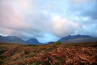 SC - ISLE of SKYE<br /> Silhouette of the Cuillins at dawn<br /> <br /> Full size: 69,2 MB
