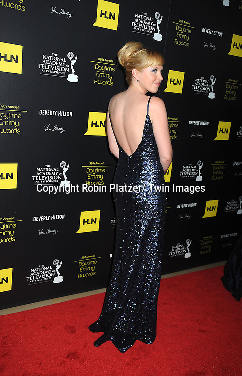 Adrienne Frantz attends the 39th Annual Daytime Emmy Awards on June 23, 2012 at the Beverly Hilton in Beverly Hills, California. The awards were broadcast on HLN.