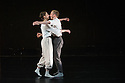 """London, UK. 15.04.2014. HeadSpaceDance present IF PLAY IS PLAY..., a triple bill of new work, in the Linbury Studio, Royal Opera House, London. Picture shows: Clemmie Sveaas, Christopher Akrill in """"Before the Interval"""" by Luca Silvestrini.  Photograph © Jane Hobson."""