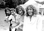 The Who 1971 John Entwistle, Keith Moon, Pete Townshend and Roger Daltrey at Keith Moons's house