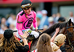 May 18, 2019 : Jockey Tyler Gaffalione and his horse War of Will #1 are congratulated after they won the Preakness Stakes on Preakness Day at Pimlico Race Course in Baltimore, Maryland. Carlos Calo/Eclipse Sportswire/CSM