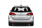 Straight rear view of 2020 Opel Astra-Sport-Tourer Edition 5 Door Wagon Rear View  stock images