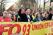 Marchers in Paris join up to 3 million people across France during a national strike against the Sarkozy government's economic policies.