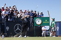 18th July 2021; Royal St Georges Golf Club, Sandwich, Kent, England; The Open Championship Golf, Day Four; Louis Oosthuizen (RSA) hits his tee shot on the third hole