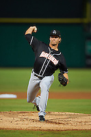 Jupiter Hammerheads pitcher Drew Steckenrider (45) delivers a pitch during the second game of a doubleheader against the Clearwater Threshers on July 25, 2015 at Bright House Field in Clearwater, Florida.  Clearwater defeated Jupiter 2-1.  (Mike Janes/Four Seam Images)