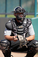 Alberto Puello of the Bakersfield Blaze during game against the Lake Elsinore Storm at The Diamond in Lake Elsinore,California on July 25, 2010. Photo by Larry Goren/Four Seam Images