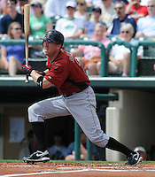 15 March 2009: Darin Erstad of the Houston Astros hits during a game against the Atlanta Braves at the Braves' Spring Training camp at Disney's Wide World of Sports in Lake Buena Vista, Fla. Photo by:  Tom Priddy/Four Seam Images