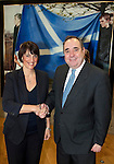 First Minister Alex Salmond met with Carolyn McCall Easyjet Chief Executive to discuss the recent announcement of major expansion plans for Scotland with a fifth aircraft flying out of Edinburgh airport and the announcement of 3 more routes for the carrier from Scotland's 4 main airports..Pic Kenny Smith, Kenny Smith Photography.6 Bluebell Grove, Kelty, Fife, KY4 0GX .Tel 07809 450119,