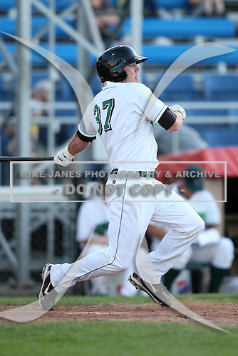 Jamestown Jammers outfielder Sequoyah Stonecipher (37) during a game vs. the Mahoning Valley Scrappers at Russell Diethrick Park in Jamestown, New York June 20, 2010.   Mahoning Valley defeated Jamestown 9-2.  Photo By Mike Janes/Four Seam Images