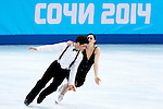 Tessa Virtue and Scott Moir of Canada compete in the Figure Skating Team Ice Dance Short Program during the 2014 Sochi Olympic Winter Games at Iceberg Skating Palace on February 8, 2014 in Sochi, Russia. Photo by Victor Fraile / Power Sport Images