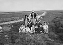 Iraq 1957 A Kurdish family, brothers, sisters, cousins and their uncle Marouf Raouf  Irak 1957   Une famille kurde, freres, soeurs , cousins et leur oncle Marouf  Raouf