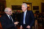 MARIO MONTI CON GIULIANO AMATO    DIBATTITO SUI TRATTATI DI  ROMA PER 'EUROPA CAMPIDOGLIO SALA PIETRO DA CORTONA ROMA 2017