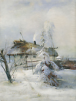 Winter<br /> Artist: Savrasov, Alexei Kondratyevich(1830-1897)<br /> Museum: State Art Museum, Samara<br /> Method: Oil on canvas<br /> Created:1873<br /> School: Russia<br /> Category: Landscape<br /> Trend in art: Russian Painting of 19th cen.