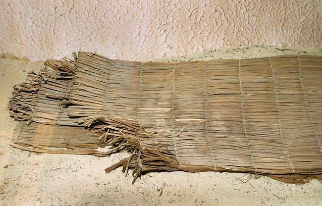Woven mat made from cattail reeds used for sleeping and sitting on by the Ute Indians of the Great Basin