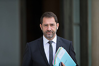 French Junior Minister for the Relations with Parliament and Government Spokesperson Christophe Castaner leaves the Elysee presidential palace following the weekly cabinet meeting on Wednesday, 28 June 2017 in Paris # CONSEIL DES MINISTRES DU 28/06/2017