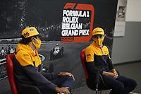 27th August 2020, Spa Francorhamps, Belgium, F1  Grand Prix of Belgium Motorsports: FIA Formula One World Championship 2020, Grand Prix of Belgium, 55 CarlSainz ESP, McLaren F1 Team and Lando Norris GBR, McLaren F1 Team