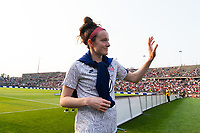 EAST HARTFORD, CT - JULY 5: Rose Lavelle #16 of the United States salutes the fans after a game between Mexico and USWNT at Rentschler Field on July 5, 2021 in East Hartford, Connecticut.