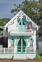Campground cottages, Oak Bluffs, Martha's Vineyard, Massachusetts, USA