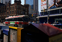 Montreal (Qc) CANADA,  May 23, 2007 - File Photo-....Tramway on College / Carlton and..Yonge street in Toronto....photo (c) Pierre Roussel -  Images Distribution