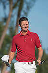 Justin Rose of England celebrates his victory during Hong Kong Open golf tournament at the Fanling golf course on 25 October 2015 in Hong Kong, China. Photo by Aitor Alcade / Power Sport Images
