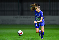 Fran Meersman (5 Gent) pictured during a female soccer game between  AA Gent Ladies and Sporting Charleroi Feminin on the fifth matchday of the 2020 - 2021 season of Belgian Scooore Womens Super League , friday 16 th of October 2020  in Oostakker , Belgium . PHOTO SPORTPIX.BE   SPP   DAVID CATRY