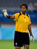 Karina LeBlanc. The USWNT defeated Canada in extra time, 2-1, during the 2008 Beijing Olympics in Shanghai, China.