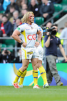 Gerhard Vosloo of ASM Clermont Auvergne with a blood injury during the Heineken Cup semi-final match between Saracens and ASM Clermont Auvergne at Twickenham Stadium on Saturday 26th April 2014 (Photo by Rob Munro)