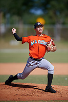 Miami Marlins pitcher Kenny Koplove (84) during a Minor League Spring Training Intrasquad game on March 27, 2018 at the Roger Dean Stadium Complex in Jupiter, Florida.  (Mike Janes/Four Seam Images)