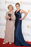 Mary Berry and Katherine Jenkins<br /> in the winners room at the 2016 BAFTA TV Awards, Royal Festival Hall, London<br /> <br /> <br /> ©Ash Knotek  D3115 8/05/2016