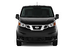Car photography straight front view of a2014 Nissan NV 200 Cargo S 5 Door Van Front View