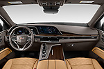 Stock photo of straight dashboard view of 2021 Cadillac Escalade-ESV Sport 5 Door SUV Dashboard