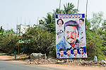 Huge posters on the road to announce birthdays, weddings, politics, deaths.