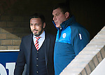 St Johnstone v Aberdeen…22.04.16  McDiarmid Park, Perth<br />Derek McInnes and Tommy Wright before kick off<br />Picture by Graeme Hart.<br />Copyright Perthshire Picture Agency<br />Tel: 01738 623350  Mobile: 07990 594431