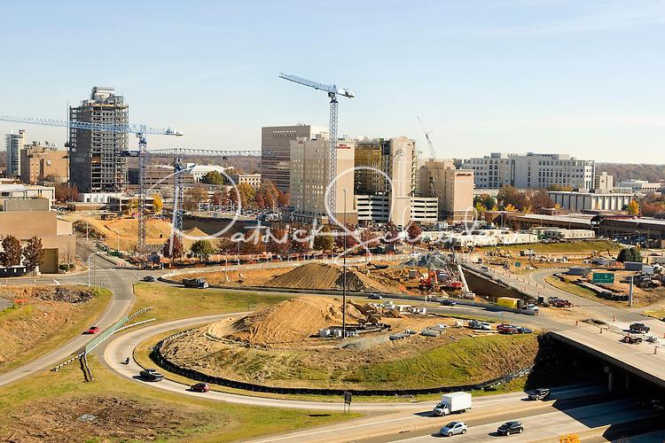A bird's eye view on Charlotte, NC, construction.