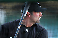 Chicago White Sox designated hitter Paul Konerko #14 before a game against the Los Angeles Angels at Angel Stadium on August 23, 2011 in Anaheim,California. Los Angeles defeated Chicago 5-4.(Larry Goren/Four Seam Images)