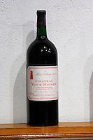 Magnum bottle of cuvee Marie-Claude 2002 Domaine La Tour Boisee. In Laure-Minervois. Minervois. Languedoc. France. Europe. Bottle.