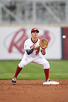 Altoona Curve second baseman Kevin Kramer (37) waits for a throw during a game against the New Hampshire Fisher Cats on May 11, 2017 at Peoples Natural Gas Field in Altoona, Pennsylvania.  Altoona defeated New Hampshire 4-3.  (Mike Janes/Four Seam Images)