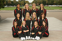 STANFORD, CA - OCTOBER 1:  (not in order) Erin Bell, Alex Bollaidlaw, Debbie Chen, Allison Coates, Taylor Durand, Morgan Fuller, Maria Koroleva, Gayle Lee, Michelle Moore, Olivia Morgan, Corinne Smith, and Koko Urata during picture day on October 1, 2008 in Stanford, California.