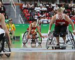 Rosalie Lalonde, Rio 2016 - Wheelchair Basketball // Basketball en fauteuil roulant.<br /> The Canadian women's wheelchair basketball team plays Netherlands in the quarter-finals // L'équipe canadienne féminine de basketball en fauteuil roulant affronte les Pays-Bas en quarts de finale. 13/09/2016.
